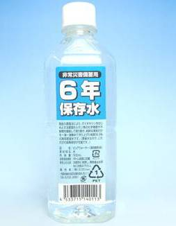 6年保存水 500ml