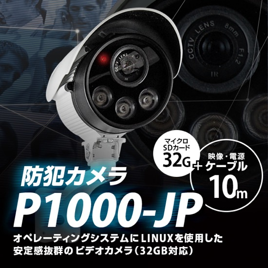 防犯カメラ P1000JP-10