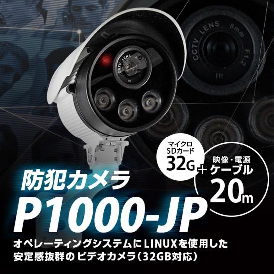 防犯カメラ P1000JP-20
